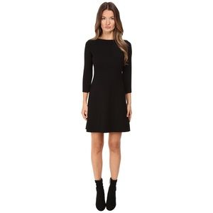 Theory Kamallina Black wool  fit & Flare Dress.